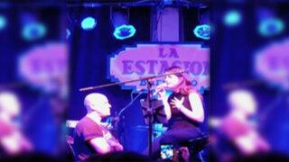 VIDEO: así fue el debut musical de Nicole Zignago