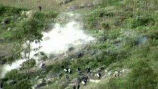 La Libertad: invasores se enfrentan violentamente a la policía en mina de oro