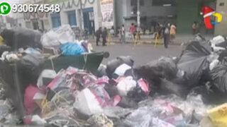 Centro de Lima: denuncian acumulación de basura en jirón Montevideo