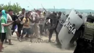 Juanjuí: policía quedó grave tras sufrir violento ataque en desalojo de terreno