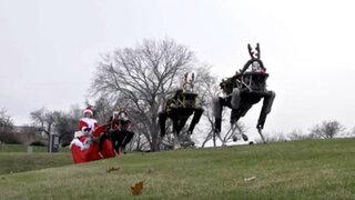 YouTube: mira cómo estos renos robots tiran el trineo de Papá Noel