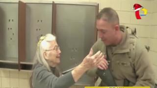 EEUU: falleció abuelita que repartía abrazos a soldados enviados a la guerra