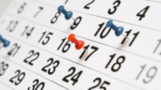 Conoce cuáles son los feriados del 2016