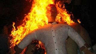 Municipio de Lima prohíbe quema de muñecos durante Año Nuevo