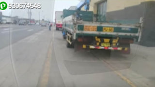 Callao: vecinos denuncian que camiones se estacionan invadiendo ciclovías