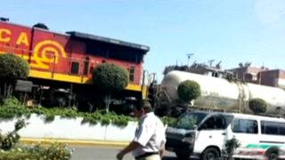 Callao: imprudente anciano pierde un pie tras ser embestido por tren
