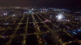 Así lució el cielo de Lima durante las celebraciones por Año Nuevo