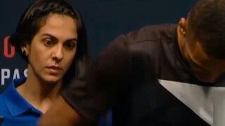 VIDEO: anfitriona queda impresionada con luchadores de la UFC