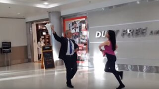 VIDEO: piloto que baila marinera en aeropuerto causa sensación en Estados Unidos
