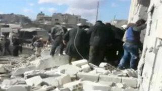 Siria: supuesto bombardeo ruso deja al menos 39 muertos