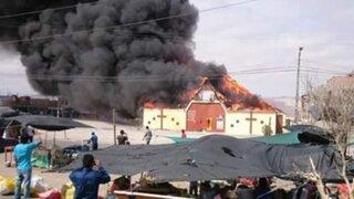 Pavoroso incendio redujo a cenizas una parroquia en Ilo