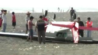 Cañete: desperfecto mecánico provoca aparatosa caída de avioneta