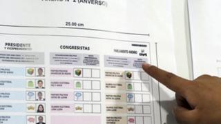 ONPE presenta diseño de cédulas de votación