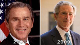 ¿Gajes del oficio? Impactantes fotos muestran el deterioro físico de algunos presidentes