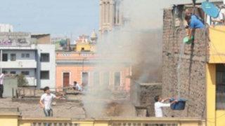 Incendio se registró en casona del Centro de Lima