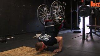 Conozca la inspiradora historia del hombre que entrena en silla de ruedas