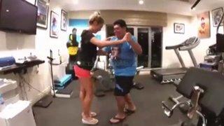 Maradona vuelve a ser protagonista de un viral de Internet con baile de cumbia