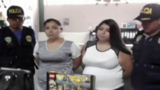 Miraflores: caen hermanas tenderas que robaban en conocido centro comercial