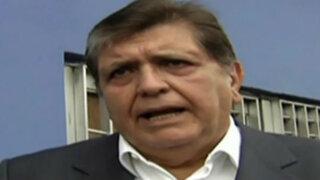 Alan García restó importancia a resultados de últimas encuestas