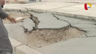 Malecón de Costanera en estado deplorable