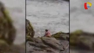 Huacho: rescatan a mujer que intentó suicidarse lanzándose al mar