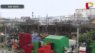 Boulevard de Asia: bomberos siguen trabajando para apagar amagos de incendio