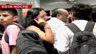 Metropolitano: caos entre usuarios en estación Canadá