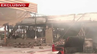 Boulevard de Asia: así quedó el supermercado tras incendio