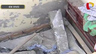 Rímac: pedazo de pared cae sobre esposos en cerro San Cristóbal