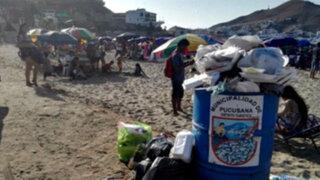 Desorden y suciedad: El otro rostro de la playa Naplo