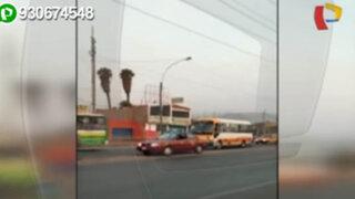 Panamericana Norte sumida en el caos por imprudencia de peatones y vehículos