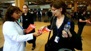 Virus Zika: inician campaña de prevención en aeropuerto Jorge Chávez