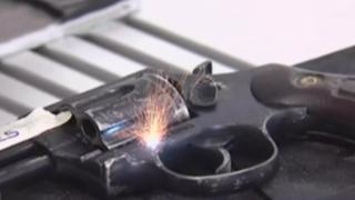 Sucamec: realizan marcación de armas de fuego para rastreo