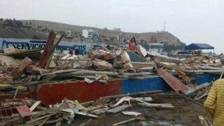 Chorrillos: cebicherías ubicadas en playa Agua Dulce fueron demolidas