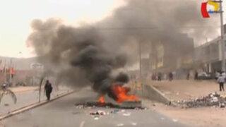 Pobladores de Manchay bloquean avenida en protesta contra el Corredor Azul