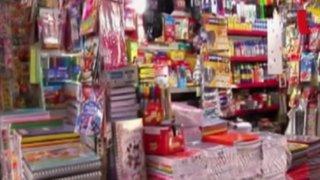 Precios de útiles escolares se incrementan considerablemente en Lima