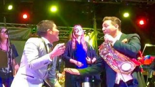 Cristian Castro y Grupo 5 cantaron juntos en Bolivia