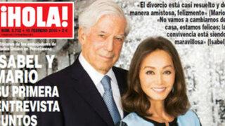 España: Mario Vargas Llosa e Isabel Preysler hablan de su romance
