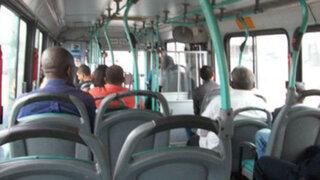 Ladrón con discapacidad asalta bus de transporte público