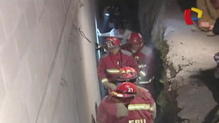 Hombre resulta gravemente herido tras caer a pozo en el Rímac