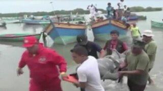 Tumbes: joven muere ahogado por fuerte oleaje
