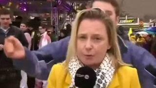 VIDEO: periodista fue manoseada y acosada durante trasmisión