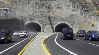SJL: amplían horario de 'marcha blanca' en túneles Santa Rosa y San Martín
