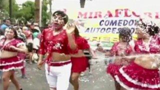 Así se viven las festividades por los carnavales en el interior del país