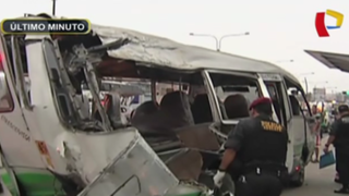 Un fallecido y más de 10 heridos deja choque del 'Chosicano' en Cercado de Lima