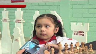 Irina Rojas, la niña de 3 años que representará al Perú en torneo de ajedrez