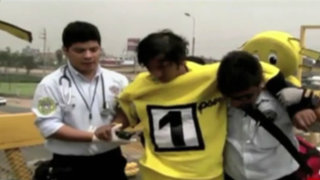 Surco: joven disfrazado se desmayó haciendo propaganda de Solidaridad Nacional
