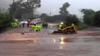 Huarochirí: huayco bloquea Carretera Central
