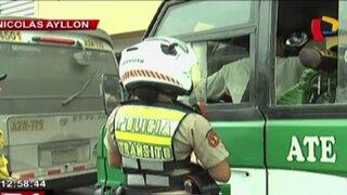 Municipalidad de Lima realiza operativo contra unidades de 'El Chosicano'