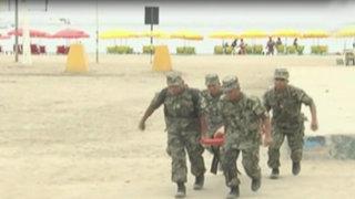 Chorrillos: realizan simulacro de tsunami en playa Agua Dulce